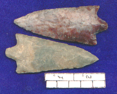 Indian Artifacts and Arrowheads Points from Son Anderson
